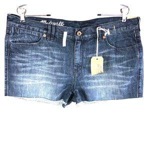 Madewell NWT Women's 32 Blue Jean Shorts